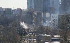 Fire cuts through downtown Raleigh